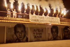 Grafiti mladića koji su poginuli u nesreći u Batajnici
