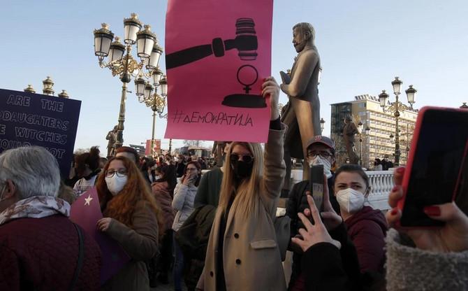 """Protesti u Severnoj Makedoniji zbog """"Javne sobe"""" na Telegramu"""