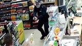Napadł z nożem na stację, postrzelił go policjant