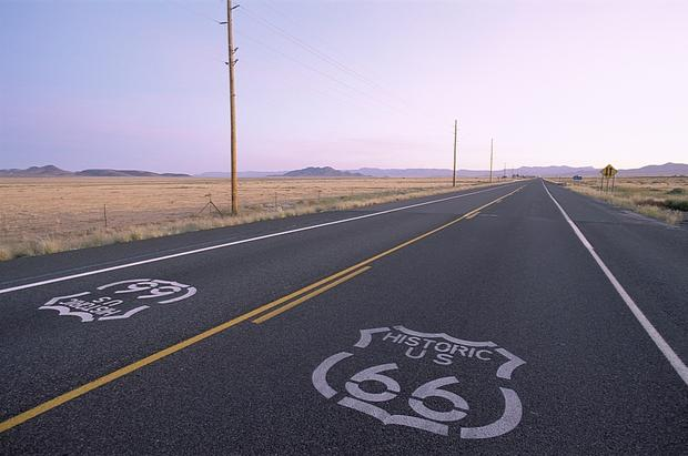 Route 66, stara pocztówka