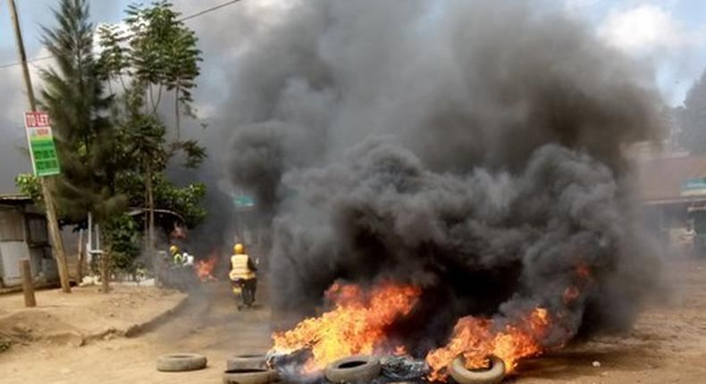Kawangware on fire as residents hold protests