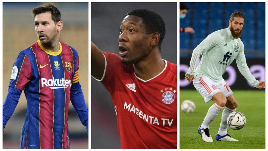 Leo Messi, David Alaba, Sergio Ramos