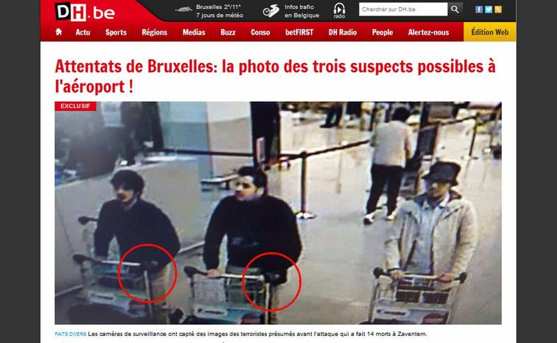 Podejrzani o dokonanie zamachu na lotnisku Zaventem w Brukseli