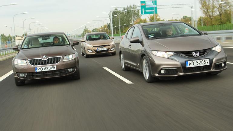 Honda Civic kontra Hyundai i30 i Skoda Octavia - atrakcyjne używane pięcioletnie kompakty.