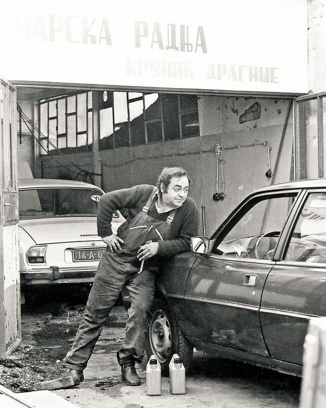 Dragiša Krunić u svojoj radionici