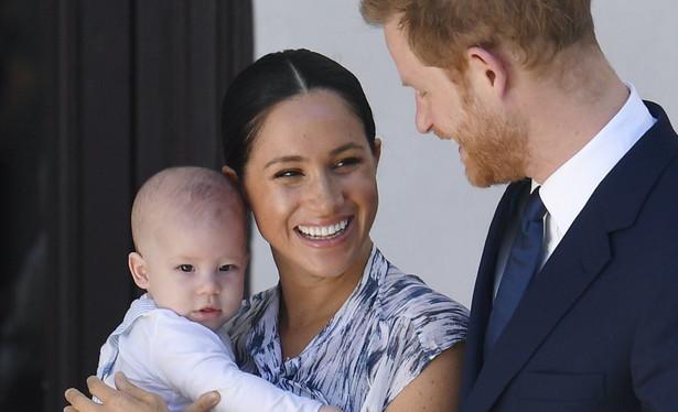 Książę Harry z małżonką i synem