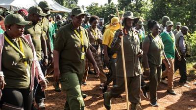 Uganda's Museveni begins jungle march to highlight liberation struggle