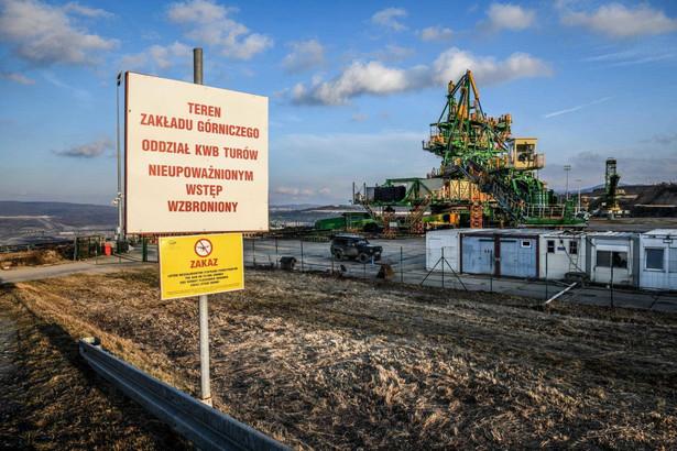 Teren kopalni węgla brunatnego Turów