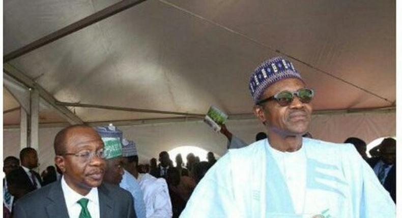 CBN Governor Godwin Emefiele and President Muhammadu Buhari