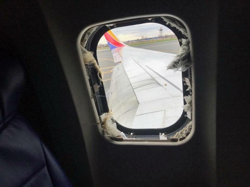 Horror w samolocie. Pasażerka nieomal wyssana przez okno