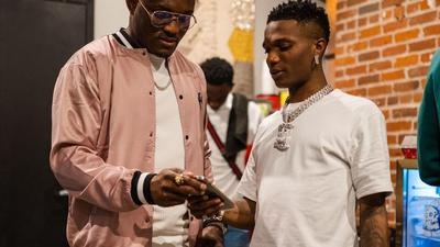 UFC star Kamaru Usman hangs out with Wizkid in Denver after a Made In Lagos Tour show