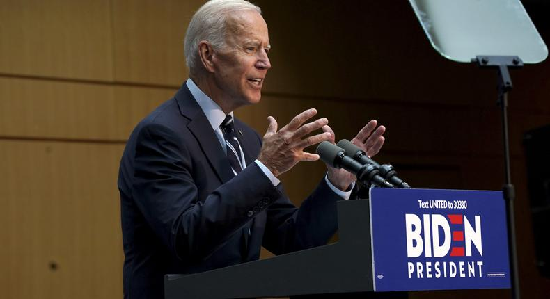Biden, in foreign policy speech, castigates Trump and urges global diplomacy