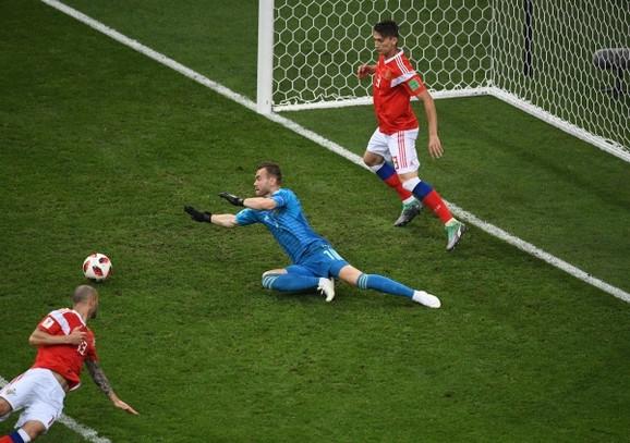 Fudbaleri Rusije na Svetskom prvenstvu održanom u njihovoj državi