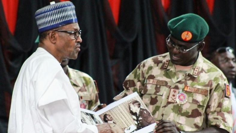 Image result for BUHARI Nigerian Army