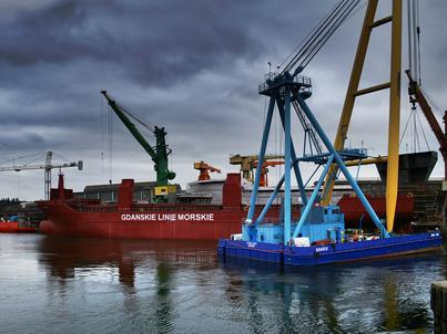 Polska ma problem z utrzymaniem większego eksportu niż importu. Na zdjęciu: Gdańska Stocznia