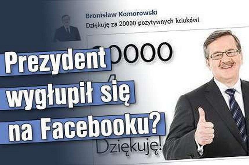 Prezydent wygłupił się na Facebooku?
