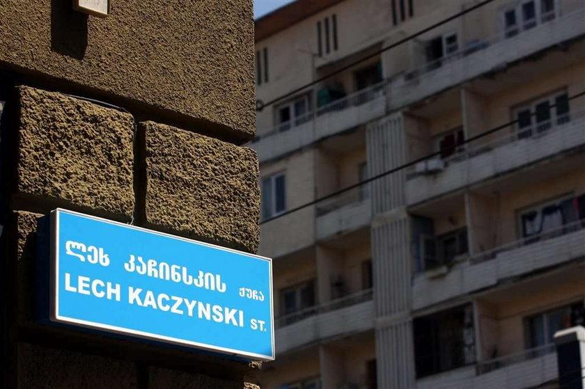 Ulica Kaczyńskiego w Tibilisi. Foto