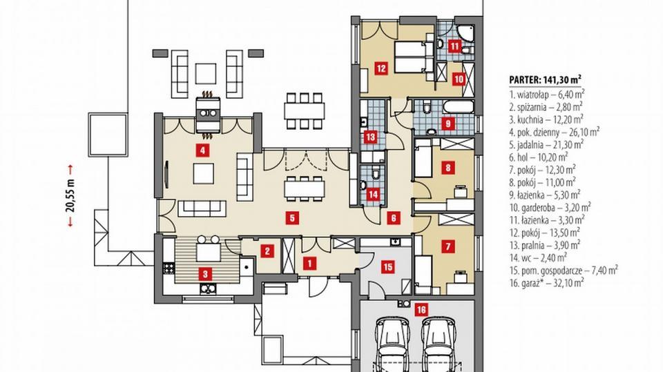 Dakota - intrygujący dom parterowy z dużym garażem. Zakochasz się w nim!