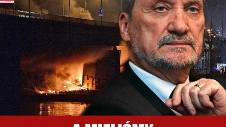 Śledczy badają okoliczności pożaru pod Mostem Łazienkowskim. Pojawią się jakieś teorie spiskowe?