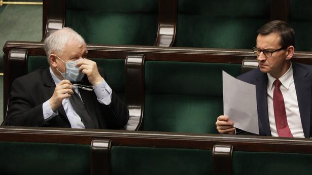 Jaroslaw Kaczynski i Mateusz Morawiecki