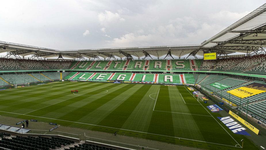 Na stadionie Legii Warszawa miał zostać rozegrany Superpuchar Polski.