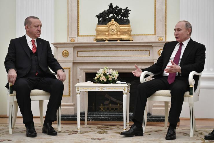 Vladimir Putin, Tajip Erdogan, EPA- ALEXANDER NEMENOV