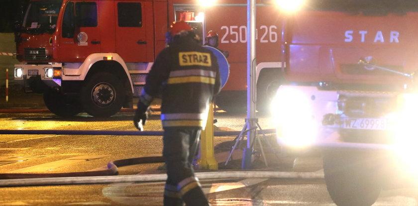 Pożar hali magazynowej PKP w Bielsku-Białej
