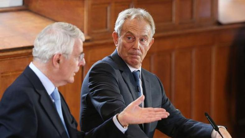 Former PMs Blair and Major warn leaving EU would threaten UK unity