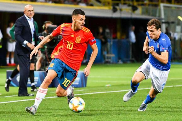 Dani Sebaljos i Federiko Kijeza, strelci sjajnih golova na meču Italija - Španija