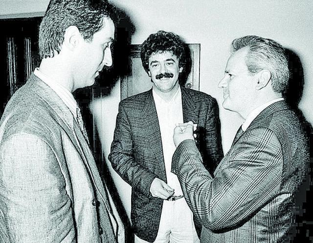 Milo Đukanović, Momir Bulatović i Slobodan Milošević