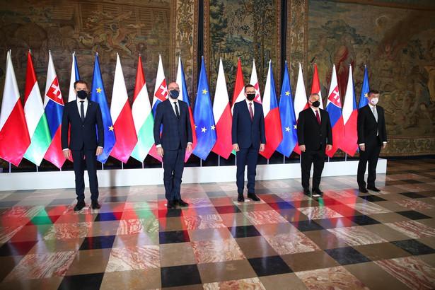 Premierzy państw Grupy Wyszehradzkiej oraz przewodniczący Rady Europejskiej