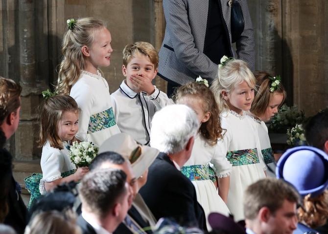 Šarlot i Džordž na venčanju princeze Evgenije 2018. u Vindzoru
