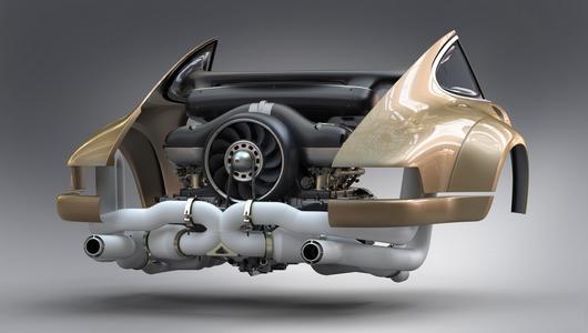 Dzieło sztuki od Singera - nowy silnik o mocy 500 KM.