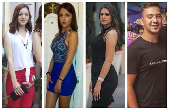Sara Lolić (17), Tanja Lacković (18), Ivana Bogunović (20), Miodrag Jovičić (19)