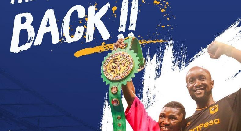 A poster announcing the return of SportPesa in Kenya