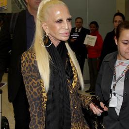 Donatella Versace prawie się roztopiła