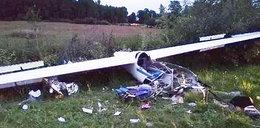 Szybowiec runął na ziemię. W strzaskanej kabinie był 18-letni pilot