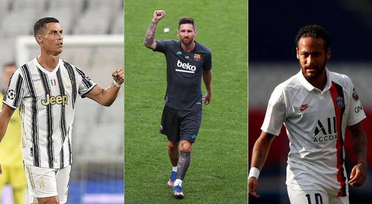 Kristijarno Ronaldo, Leo Mesi i Nejmar