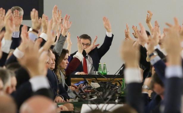 Głosowanie w Sali Kolumnowej Sejmu