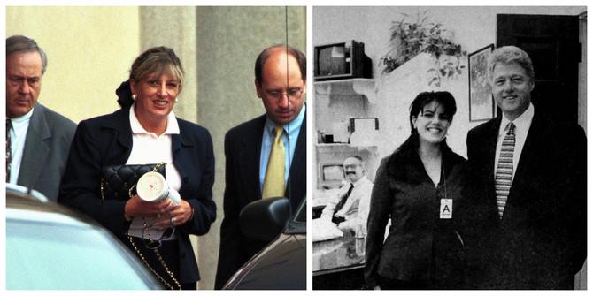 Linda Trip, Monika Levinski i Bil Klinton