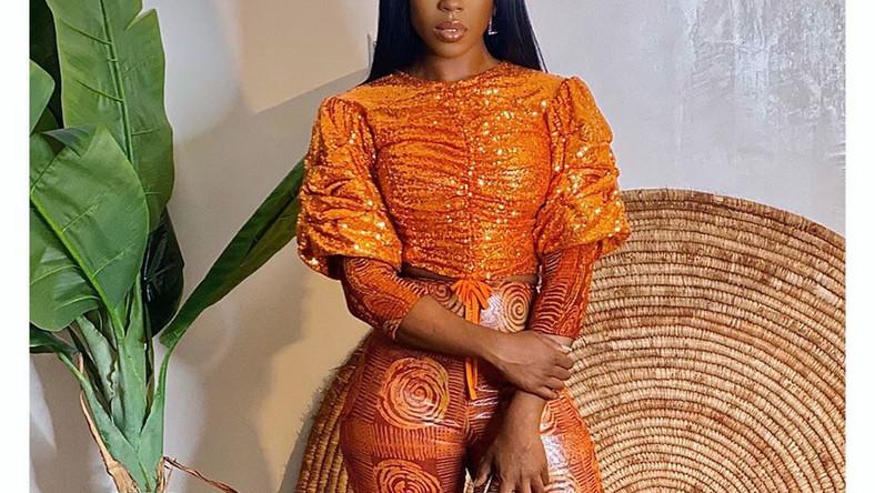 Beverly Naya looks classy and outstanding in 'Adire' [Instagram/ Beverly Naya]