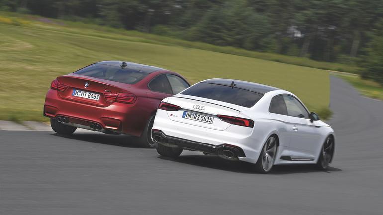 Jeden prycha, drugi dymi - Audi RS5 kontra BMW M4 na torze