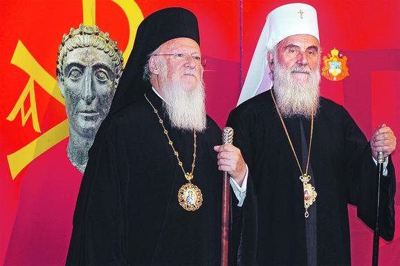 Vaseljenski i srpski patrijarsi Vartolomej i Irinej