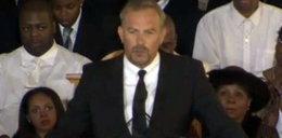 Kevin Costner na pogrzebie Whitney Houston