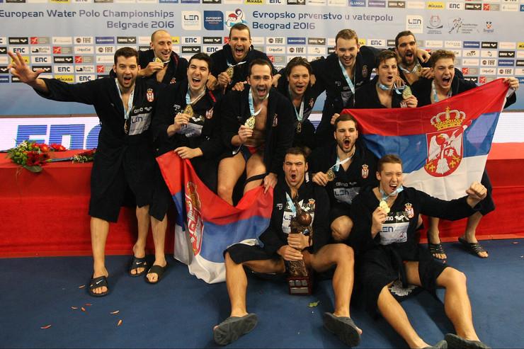 Vaterpolo reprezentacija Srbije, finale Evropskog prvenstva