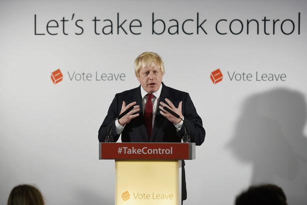 Boris Johnson, zwolennik Brexitu