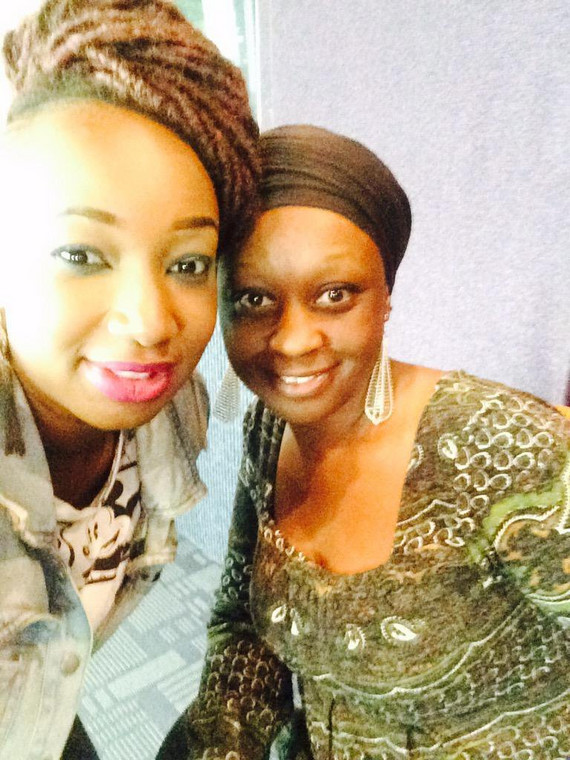 Radio presenter Talia  Oyanda with Muthoni Bwika.