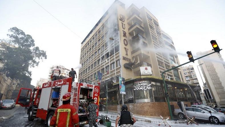 Zamachowiec samobójca zdetonował ładunek w jednym z hoteli w Bejrucie