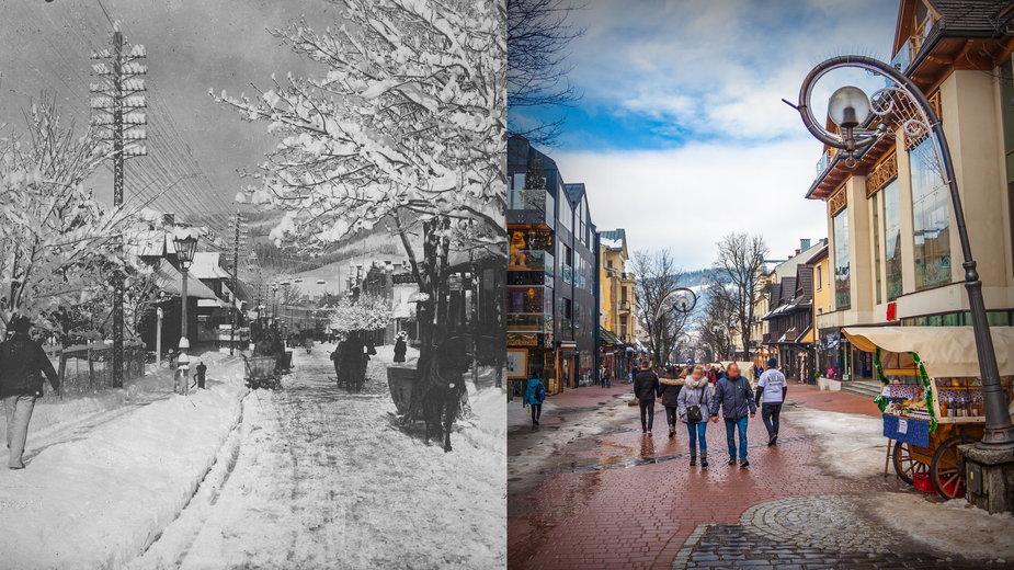 Zakopane: Ulica Krupówki na starych fotografiach