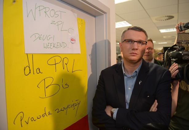 Przemysław Wipler był obecny w trakcie akcji ABW w redakcji Wprost. Fot. PAP/Radek Pietruszka